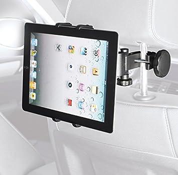 HR-iMotion Soporte Universal para reposacabezas de Coche con Sistema de fijación con ángulo de visión Regulable (360 Grados, sin Vibraciones) para Tablet: ...