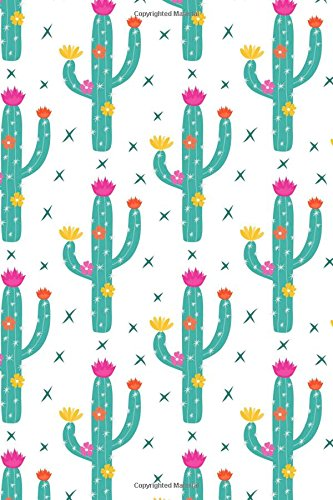 """Read Online Cactus Journal: 6"""" by 9"""" 160 Pages (80 Sheets) Blank Lined Notebook Diary Design #7 pdf epub"""