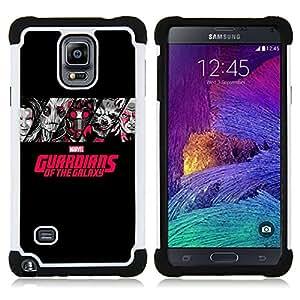 """Samsung Galaxy Note 4 IV / SM-N910 - 3 en 1 impreso colorido de Altas Prestaciones PC Funda chaqueta Negro cubierta gel silicona suave (Divertido Oldschool Ratón de la historieta"""")"""