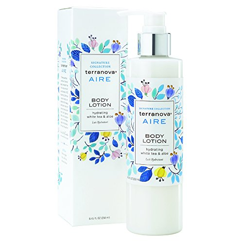 Terranova Aire Body Lotion with Hydrating White Tea and Aloe, 8.45 Ounce - White Tea Massage Lotion