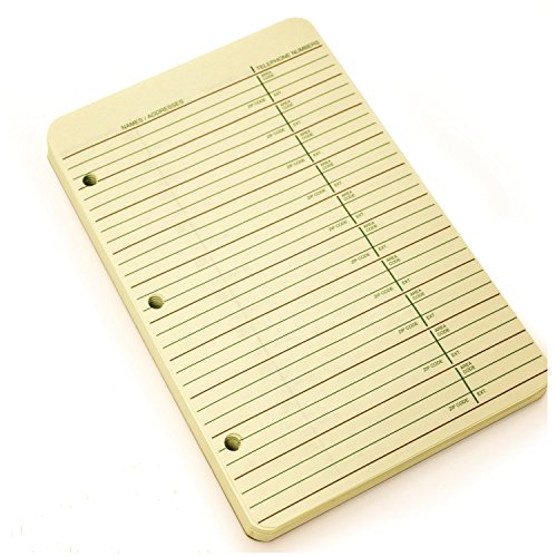 Wilson Jones 3-Ring Looseleaf Phone/Address Book Refill, 5.5 x 8.5 Inches, 80 Sheets (812R)