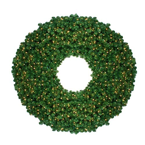 Pre Lit Artificial Pine Wreath - Northlight Pre-Lit Olympia Pine Artificial Christmas Wreath - 60 Inch, Clear Lights