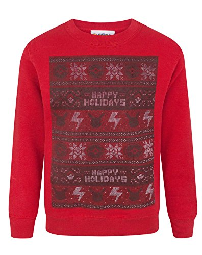 Price comparison product image Pokemon Happy Holidays Christmas Kid's Sweatshirt (7-8 Years)