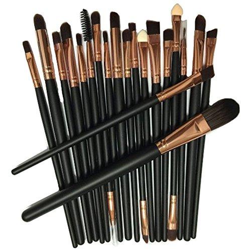 KOLIGHT Set of 20pcs Rose Gold Makeup Sets Powder Foundation Eyeshadow Eyeliner Lip Cosmetic Brushes