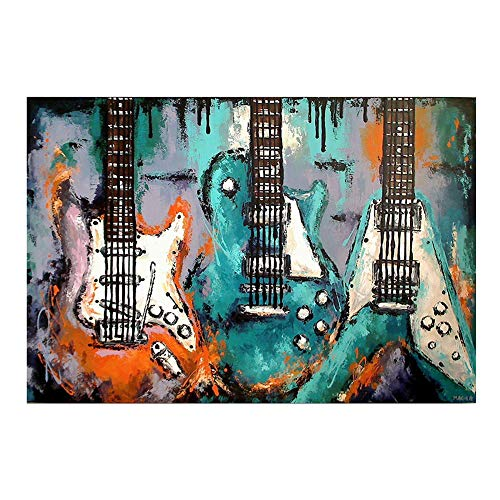 Aphila 5D DIY Diamond Painting Kits for Adults Full Drill Square Resin Rhinestones Embroidery Cross Stitch Home Decor Gift Guitar Colorful 30x40cm/12