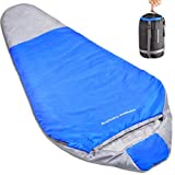 Norsens 20 Degree Adult Ultralight Lightweight Mummy Sleeping Bag For Camping, Backpacking, Hiking, Outdoor With Compression Sack, Fit Up To 6'6''