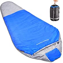 """Norsens Adults Ultralight Lightweight Compact Mummy Sleeping Bag 20 Degree for Camping Backpacking Hiking & Outdoor, With Compression Sack Fit Up To 6""""6"""