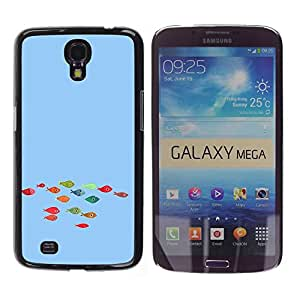 For Samsung Galaxy Mega 6.3 - Funny Colorful Koi Fish /Caja protectora de pl???¡¯????stico duro de la cubierta Dise???¡¯???¡Ào Slim Fit/ - Super Marley S
