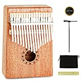 JDR Kalimba 17 keys Thumb Piano Perfect Music Enlightenment Birthday Gift for Men, Women, Kids Without Any Musical Basis,Environmentally Friendly Material