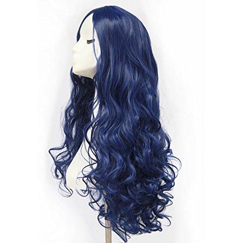 Peluca de cabello largo rizado color azul de alta calidad, pelucas de cosplay para mujeres de 70 cm: Amazon.es: Belleza