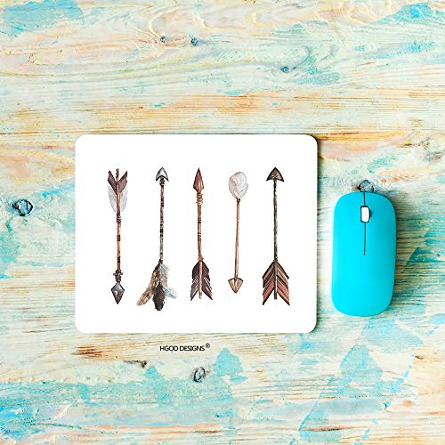 HGOD DESIGNS Gaming Mouse Pad Arrow,Watercolor Hand Drawn-Arrows Boho-Style Mousepad Rectangle Non-Slip Rubber Mouse -