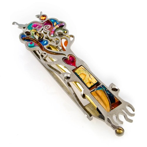 Seeka Tree of Life Mezuzah Curated by The Artazia Collection M0460 by The Artazia Collection