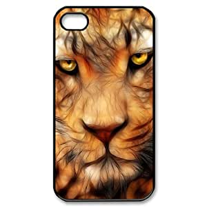 Iphone 4,4S 2D DIY Hard Back Durable Phone Case with Fractal Tiger Image