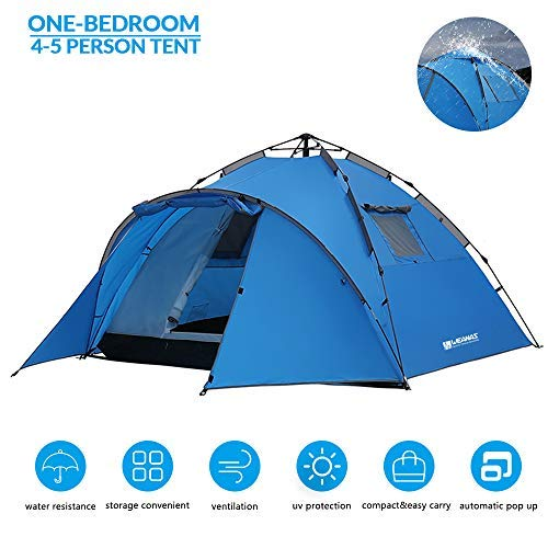 Weanas 4-5 Person Tents for Camping, Automatic Instant Pop Up Tent, Double Layers UV Protection Waterproof Dome Tent for Outdoor Sports