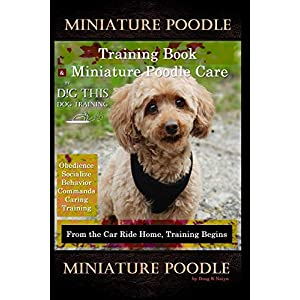 Miniature Poodle Training Book & Miniature Poodle Care, By D!G THIS DOG TRAINING, Obedience, Socialize, Behavior, Commands, Caring, Training: From the Car Ride Home, Training Begins, Miniature Poodle 25