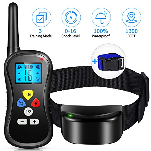 Patpet Dog Training Collar with Remote, Pro [All-New 2019] Pts-018 Shock Collar, IPX7...