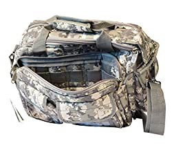 Explorer R1 Deluxe Tactical Padded Shooting Ammo Range Rangemaster Gear Carry Bag Pistol Hand Gun Case ACU,Free Gift Camo Hunting Sports Caps