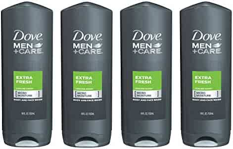 Dove Men+Care Body and Face Wash, Extra Fresh 18 Fl Oz (Pack of 4)