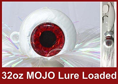 ブルー水キャンディ – Rock Fishキャンディ32 oz Cannonball Mojo Lure Loaded with 9-inch Swimbait Shadボディ(ホワイト)   B01HSJLASQ
