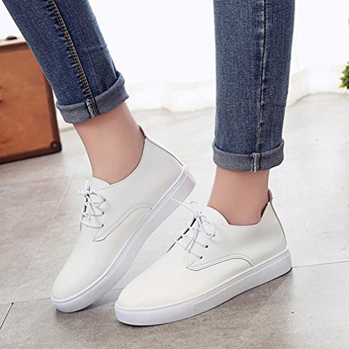 fasloyu Shoes Fashion Women Shoes Casual Shoes Comfortable Soles Platform Shoes Season White UB6Rz
