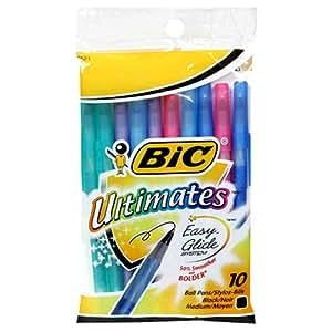 BIC Ultimates Ball Pen, Medium Point (1.0 mm), Black, 120 Pens
