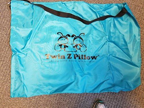 51B7FZCkKjL. AC - Twin Z Pillow + 1 Teal Cover + Free Travel Bag!