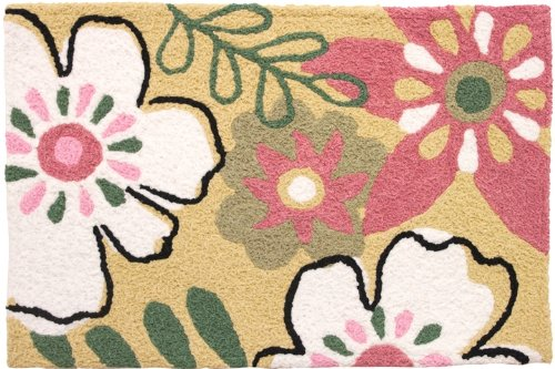 Jellybean Area Accent Rug Whimsical Flowers
