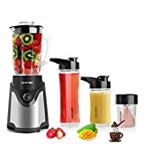 BESTEK BL15 Personal Blender and Coffee Grinder 2-in-1, Single...