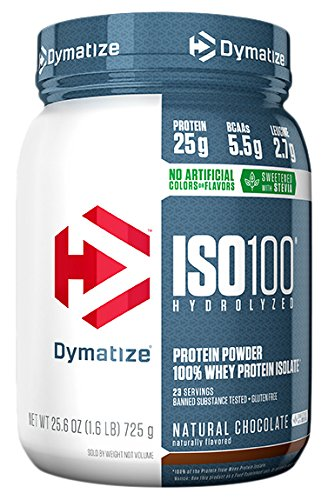 Dymatize ISO 100 Whey Protein Powder Isolate, Natural Chocolate, 1.6lbs