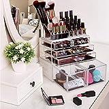 HBlife Makeup Organizer 3 Pieces Acrylic Cosmetic
