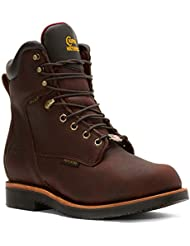 Chippewa Men's 8 Inch Rich Oiled Walnut Waterproof Ins Lace-Up Rugged Boot