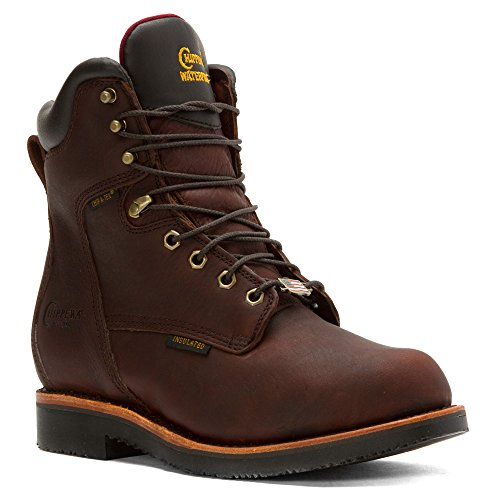Ins Boot Up Rich Oiled Mens 8 Chippewa Inch Brown Lace Waterproof Walnut Rugged x0gPwz