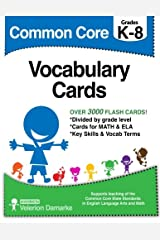 Common Core Vocabulary Cards: Black & White Version Cards