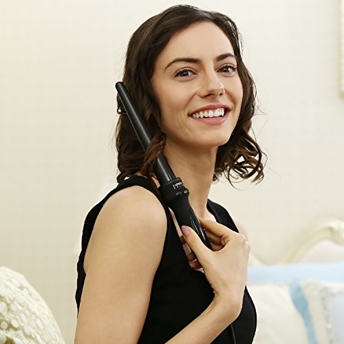 PARWIN BEAUTY Tourmaline Ceramic Hair Straightener Hair Curler and Dryer Set - 1 Inch Digital LCD Ceramic Flat iron, 13 to 25 mm Curling Iron and 2 Speed Hair Dryer, Black by PARWIN BEAUTY (Image #6)