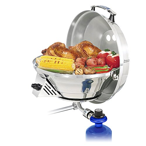 Magma Products, A10-207-3 Marine Kettle 3, A10-207-3, Combination Stove & Gas Grill, Propane Portable Oven, Original Size