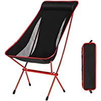 Outdoor Folding Camping Chairs Portable Moon Leisure...