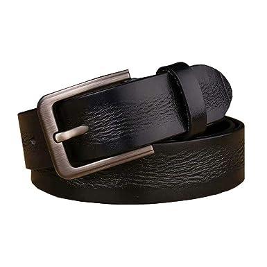 XDDQB Cinturón hombre Cinturones de hebilla cinturón casual ...