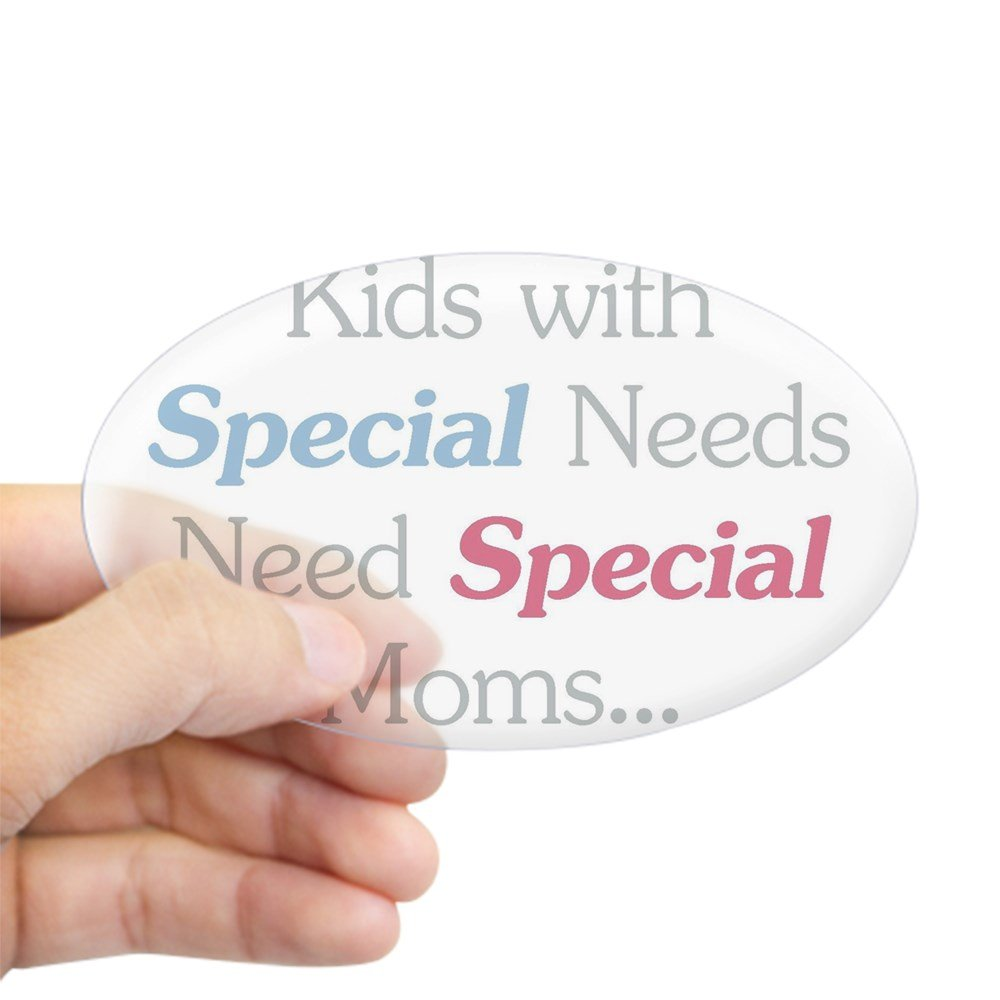 Amazon com cafepress special needs moms oval bumper sticker euro oval car decal home kitchen
