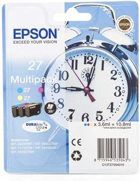 Epson Original Epson C13t27054010 Tintenpatrone Cyan Magenta Bürobedarf Schreibwaren