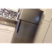 Grandma's CONTACT PAPER NO! GRAPHITE BRUSHED Stainless Faux Peel and Stick Film compliments your current appliances. Do mismatched appliances drive you NUTS? Why Paint? 3'Wx12'