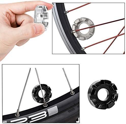 ShenyKan Bicicleta port/átil 8 v/ías Radio de pez/ón Llave Llave Llave Inglesa Ciclismo Llave Herramienta de reparaci/ón de Bicicletas Llave Ajustable