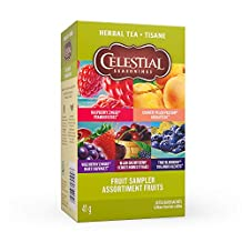 Celestial Seasonings Fruit Sampler Herbal Tea, 20 Tea Bags per box, 1 box