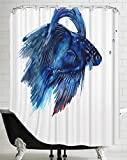 Beta Fish Shower Curtain American Flat Beta Fish Shower Curtain by Suren Nersisyan, 71