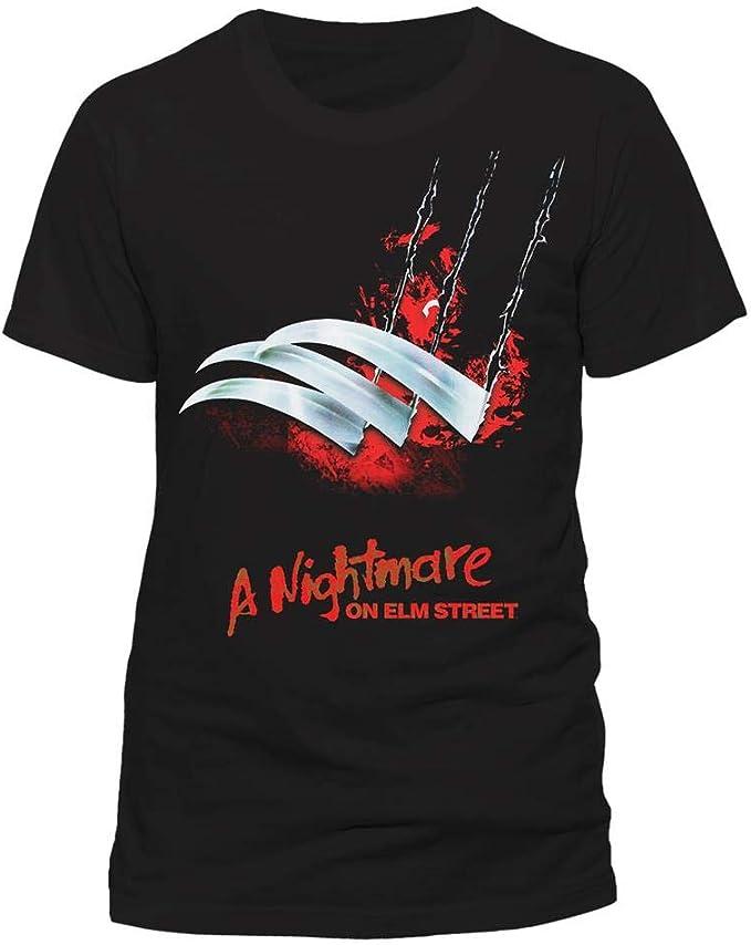 Freddy Krueger Blades Poster Official Nightmare on Elm Street Black Mens T-shirt