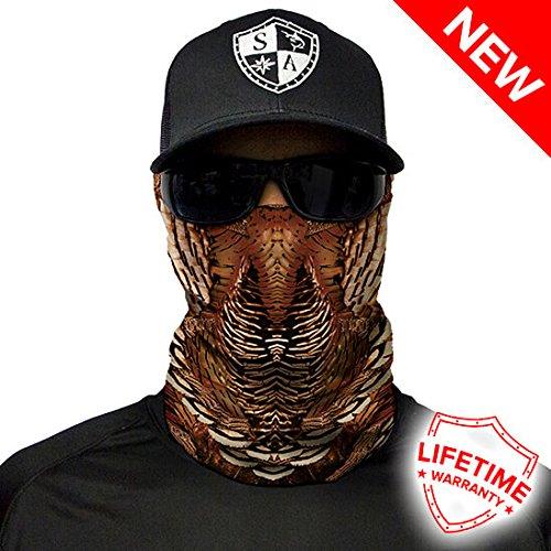 Salt Armour Wild Turkey Face Shield Mask tubular bandanas Hunting Fishing Outdoor by salt Armour