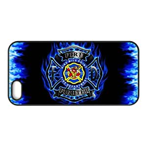 US Firefighter Logo Theme Case Cover for iPhone 5/5S- Personalized Hard Cell Phone Back Protective Case Shell-Perfect as gift