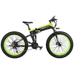51B7IaYR7DL. SS300 LANKELEISI T750Plus 27 Speed 26 * 4.0 Fat Bike, bicielettric a Pieghevole 1000W 48V 10Ah Batteria al Litio Nascosta…
