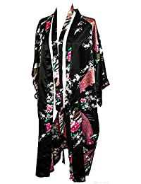 CCcollections Kimono Peacock Premium Dressing Gown Robe Light Weight
