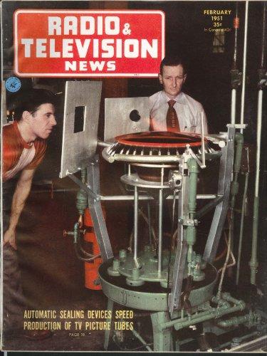 RADIO& TELEVISION NEWS Inexpensive Pulse Generator Metal Sealing TV Tubes 2 1951