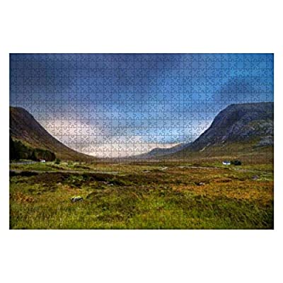 """Jigsaw Puzzles Scottish Highlands Scenery Scotland Landscape Stock Pictures Royalty for Kids Adults Educational Intellectual Game Gift Large Puzzle Toys DIY Challenge Indoor - 20""""x30""""(1000 Pieces): Toys & Games"""